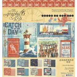 Graphic 45 Design papier 30,5 x 30,5 cm Catch of the Day