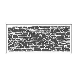 The Crafters Workshop Rock wall slim line stencil 10 x 23 cm