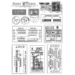 Crafty Individuals Vintage Tickets and Postmarks unmounted Rubber