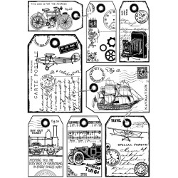 Crafty Individuals It's a mans world Unmounted rubber stamp