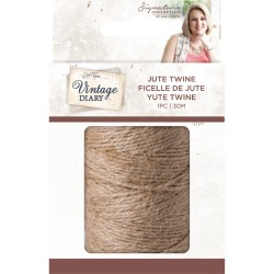 Crafters Companion Vintage Diary traditional jute twine