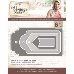 Crafters Companion Vintage Diary Tags and Banners