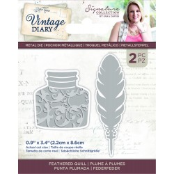 Crafters Companion Vintage Diary Feathered quill dies