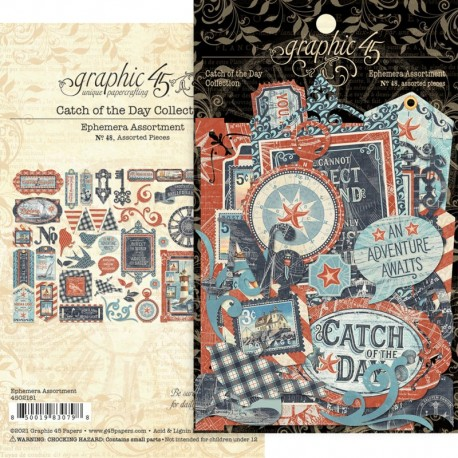 Graphic 45 Catch of the Day die-cuts
