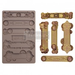 Re-design with Prima Steampunk Plates 5x8 inch mould