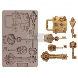Re-design with Prima Mechanicals lock &keys 5x8 inch mould