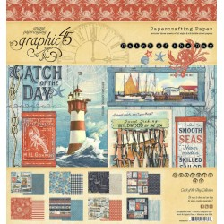 Graphic 45 design papier Catch of the Day 20,3 x 20,3 cm