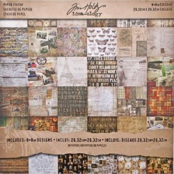 Tim Holtz paper pack Collage 8 x 8 inch