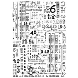 Crafty individuals Unmounted rubber stempel Counting down CI-573