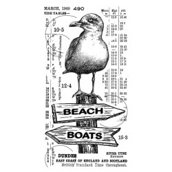 Crafty individuals Unmounted rubber stempel Counting Seagulls CI-576