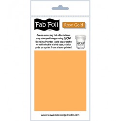 WoW fab foil rose gold