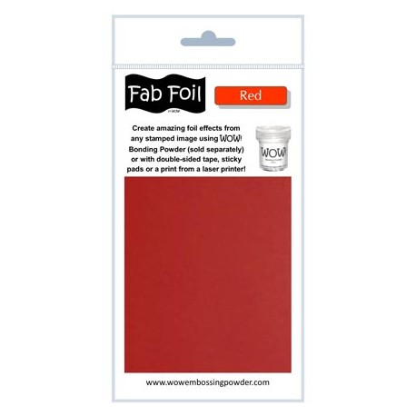 WoW Fab Foil Red