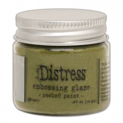Tim Holtz distress embossing glaze paeled paint