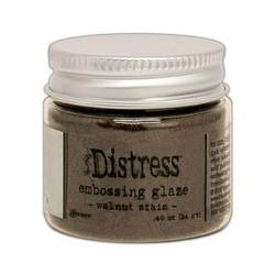 Tim Holtz distress embossing glaze walnut stain