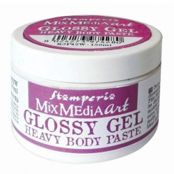 stamperia glossy gel heavy body paste