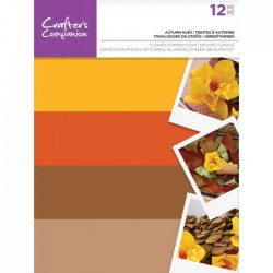Crafters Companion Autumn Hues flower Forming Foam geel/bruin