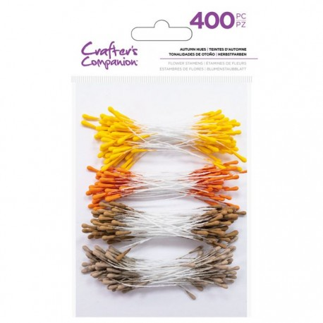Crafters Companion Flower stamens Autumn hues
