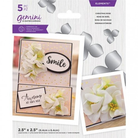 Crafters Companion Christmas Rose Elements snij mal